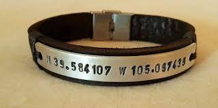 gift men bracelet images Gift for him coordinates bracelet leather bracelet personalized jpg