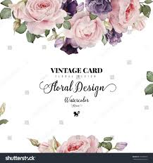 Invitation Card With Photo Greeting Card Roses Watercolor Can Be Stock Illustration 316080572