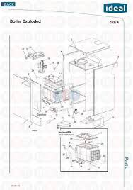 exploded floor plan ideal mexico he 24 appliance diagram exploded view heating