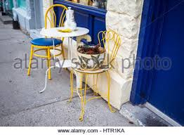 Ka Bistro Chair A Charming Cafe Table For Two Outside The Restaurant La Flambee