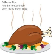 free illustration of a cooked turkey