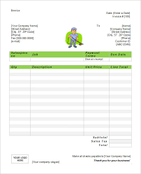 cleaning service invoice template free service invoice 28 download