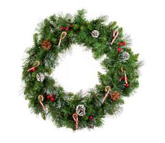 Christmas Decorations On White Background by Christmas Wreath On White Background Royalty Free Stock Image