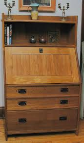Secretary Desk Cabinet by Hand Crafted Arts U0026 Crafts Fall Front Secretary Desk By James Eddy
