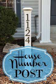 Solar Sign Lights Outdoor by Simple Life Of A Fire Wife House Number Post I Would Not Do