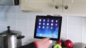 Kitchen Tv Under Cabinet by 2 In 1 Kitchen Mount Stand For Ipad U0026 Tablets Youtube