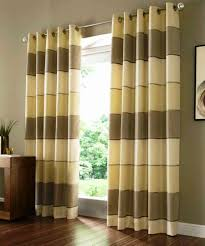 Curtain Patterns Living Room Cleanly Laminate Floor Mixed With Chocolate Wall Paint