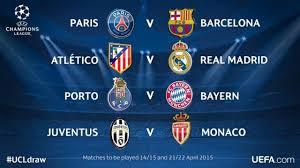 Jadwal Liga Chion Jadwal Liga Chion 2015 Babak Perempat Psg Vs Barcelona