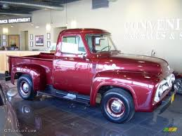 ford truck red dark red metallic 1953 ford f100 pickup truck exterior photo