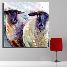 Goat Home Decor Painting Goat Modern Prints For Living Room Home Decoration