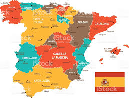 Map Spain Colored Spain Map Stock Vector Art 544487770 Istock