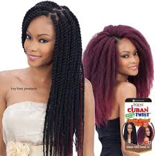 cuban twist hair freetress equal synthetic braid cuban twist braids 12 16 24