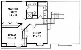 bi level home plans plan 1225 3 bedroom level home