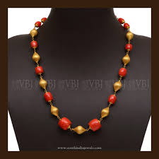 beaded coral necklace images 22k gold coral mala pinterest necklace designs bead necklaces jpg
