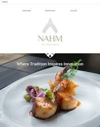 nahm fine thai cuisine tannermark atlanta website design for