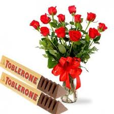 send flowers online rosses with toblerone send flowers online gifts for