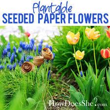 flower seed paper seeded paper flowers