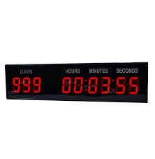 amazon com 1 8 u0027 u0027 led large digital countdown clock event timer