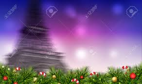 merry festival illustration with motion blur