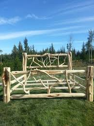 68 best log beds images on pinterest log bed rustic bed and