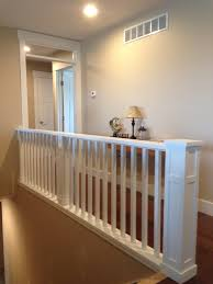 Contemporary Railings For Stairs by This Craftsman Style Balcony Staircase Has A Custom Contemporary
