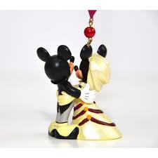 mickey and minnie wedding ornament