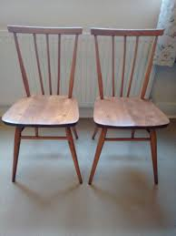 Ercol Dining Chair Two Vintage Ercol Stick Back Dining Chairs Model 391 Made In