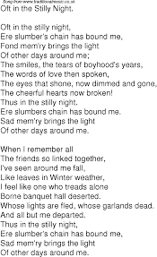 the light of other days old time song lyrics for 07 oft in the stilly night
