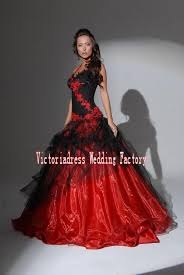 aliexpress com buy casamento red and black ball gown gothic