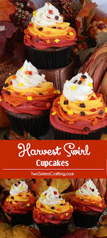 harvest swirl cupcakes two