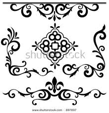 set exquisite corner ornamental designs stock vector 76004527