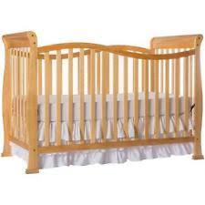 compact convertible crib natural pine wood toddler day bed small