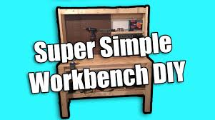 family handyman cheap diy workbench super simple workbench youtube