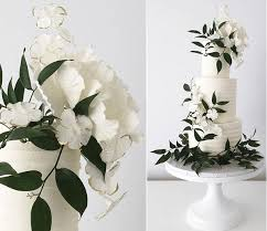 wedding cake greenery foliage greenery decorated wedding cakes 2017 wedding cake