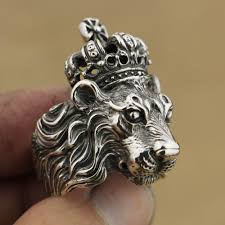 mens crown rings images 2018 linsion handmade 925 sterling silver crown lion king mens jpg