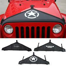 car styling engine cover for jeep wrangler 2007 2015 canvas hood