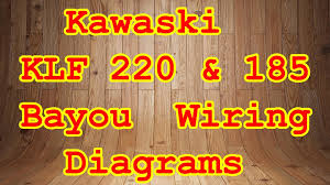 klf 185 u0026 220 bayou wiring diagrams youtube