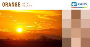 orange paint colors ppg paints