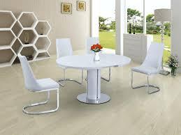 High Gloss Extending Dining Table White Extending Dining Table Javi333