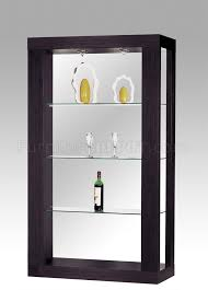 glass shelves for china cabinet modern wenge finish display cabinet with 3 glass shelves