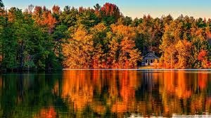 villa in autumn forest hd desktop wallpaper for 4k ultra hd tv