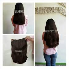 hair clip rambut asli seven7revolution hairclip big layer 60cm 1 layer fullhead hair