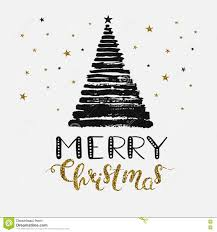 merry christmas modern merry christmas text modern calligraphy type made stock vector