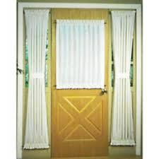 impressive front door curtain panel in charming laundry room decor