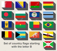 Conutry Flags Set Of Country Flags Staring With The Letter B Stock Photo