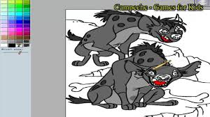 lion king online coloring pages hyena banzai and ed 79 youtube