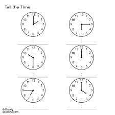 tell the time and draw the numbers prepping for kindergarten