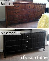 How To Paint Furniture Black by Diy Chalk Paint Recipe And A Dresser Makeover Classy Clutter