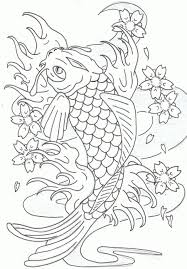 koi fish coloring pages japanese koi fish coloring page koi