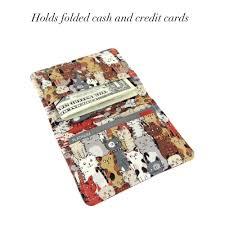 Cat wallet womans wallet slim wallet travel wallet front